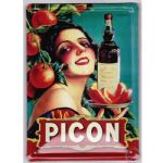 Chic French Confitures Picon Lady Metal Sign Plaque Shabby